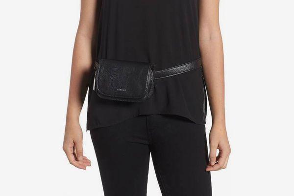 Aki Faux Leather Belt Bag MATT & NAT