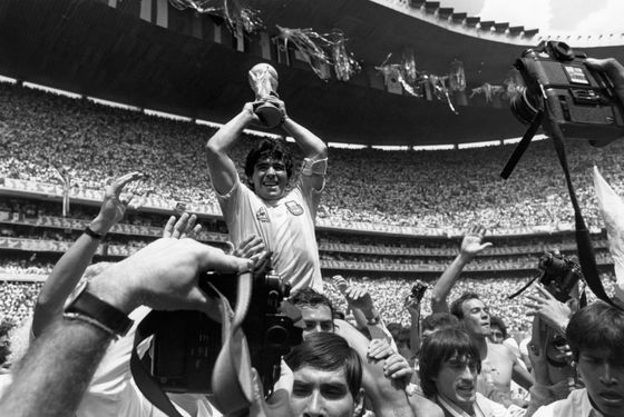 Maradona would definitely be excited about free beer.