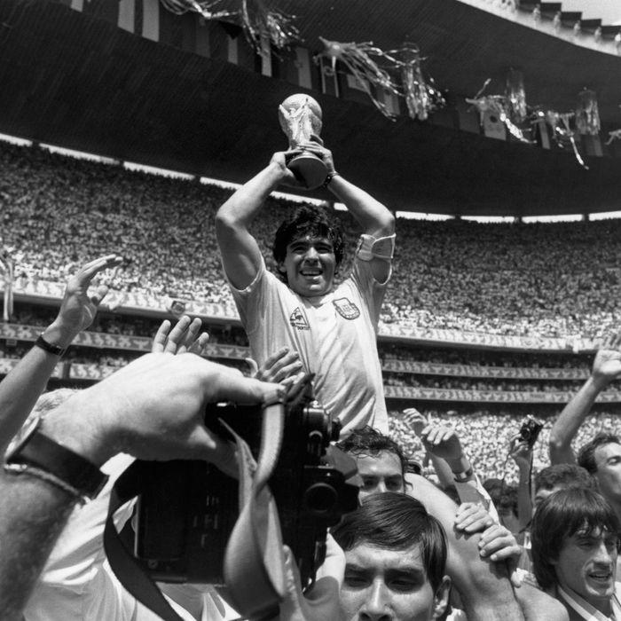 Maradona is psyched.