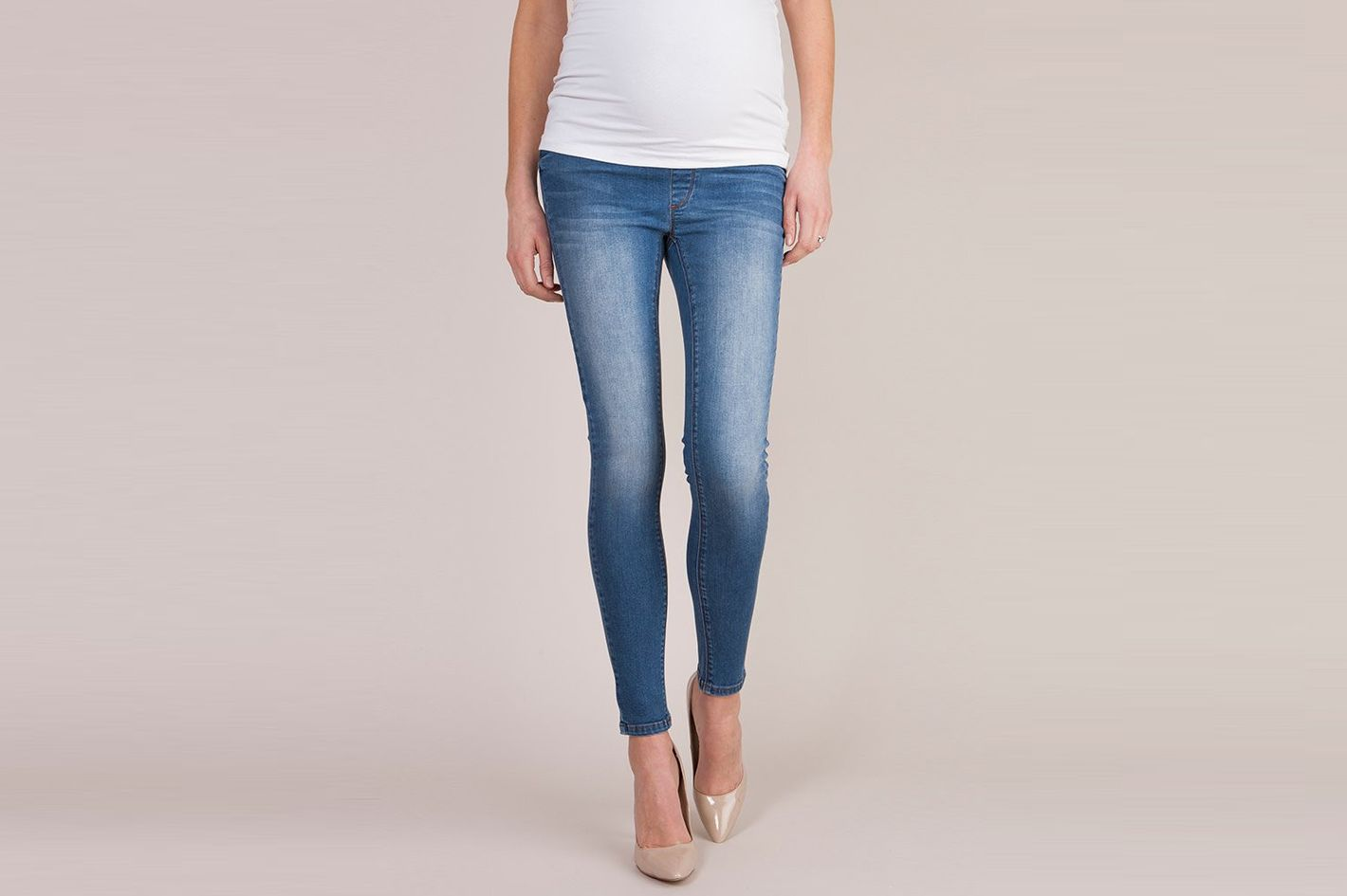8e4b63f7a41 Séraphine Dark Over Bump Super-Skinny Maternity Jeans