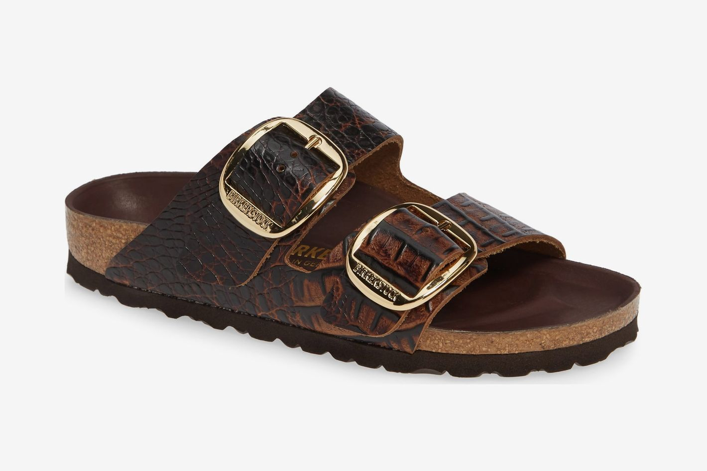 Birkenstock Arizona Big Buckle Gator Brown Leather