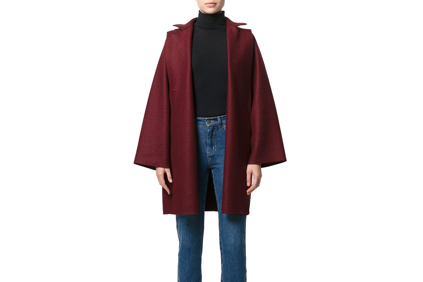 Harris Wharf London Oversized Single Breasted Coat