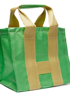 green comme des garcons large woven tote - strategist fashion summer sale