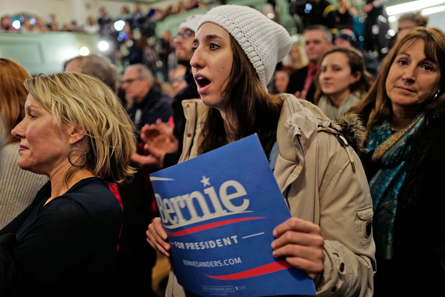 One poll shows young women prefer Sanders by 19 points.