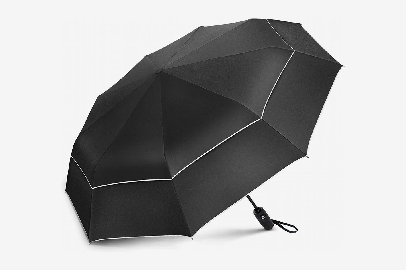 32eb1e7107960 EEZ-Y Compact Travel Umbrella with Double Canopy Construction
