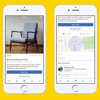Facebook Releases Craigslist Competitor, Marketplace