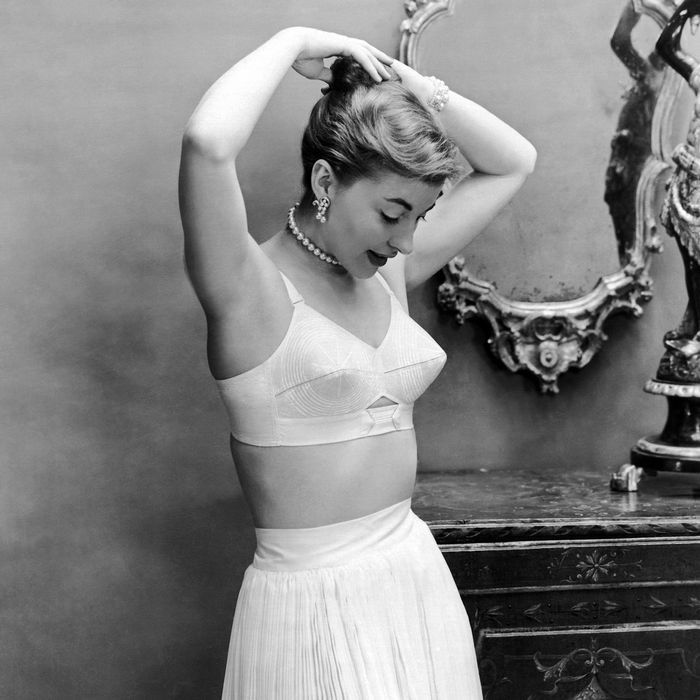 09854157a20d5 Fortunately bras no longer look like this. Photo: Underwood Archives/Getty  Images