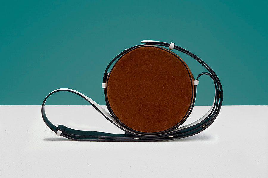 Suede Circle Handbag