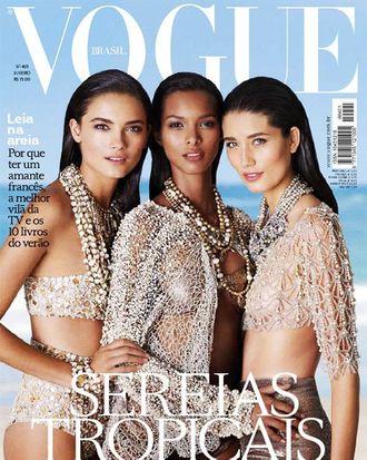 <em>Vogue</em> Brazil's January cover.