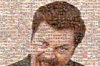 Yep, That's a Picture of Ron Swanson, Made Up of His Favorite Foods
