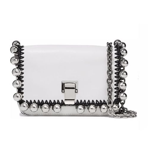 Proenza Schouler PS Courier Small pompom-embellished leather shoulder bag
