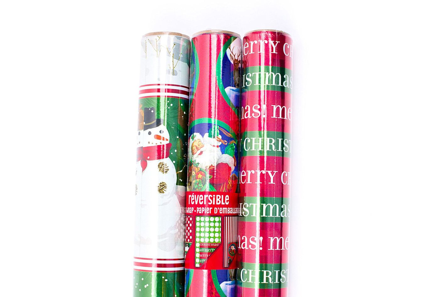 Hallmark Holiday Reversible Wring Paper Foil Patterns 3 Pack