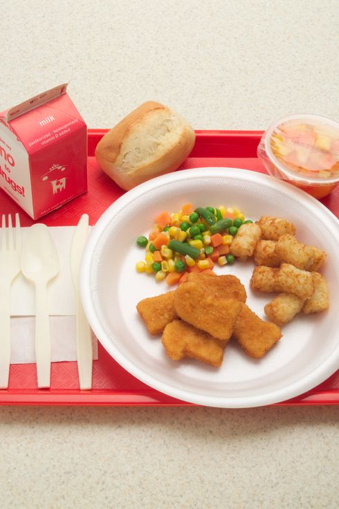 Student's Cafeteria Lunch
