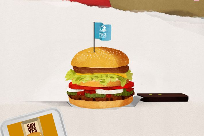 "A Burger King artist's rendering of the ""McWhopper."""