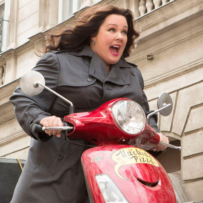 SPY - 2015 FILM STILL - Pictured: Susan Cooper (Melissa McCarthy) races to stop a deadly arms dealer - Photo Credit: Larry Horricks � 2015 Twentieth Century Fox. All Rights Reserved. Not for sale or duplication.