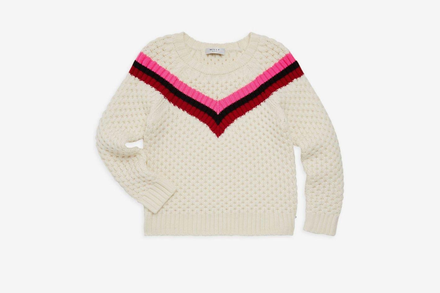 Milly Minis Little Girl's & Girl's Chevron Stripe Sweater