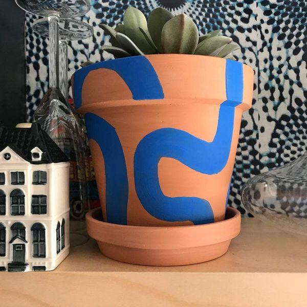xN Studio Bogolan Bauhaus TWIST planters
