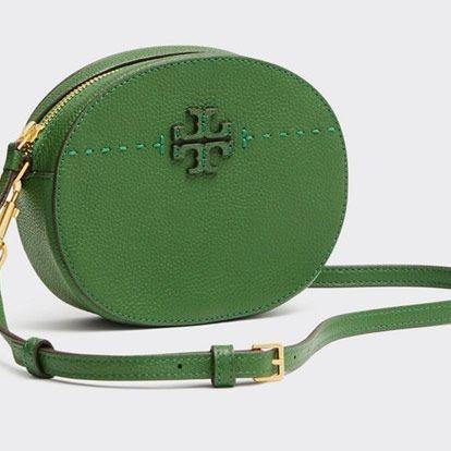 green tory burch mcgraw cross body bag
