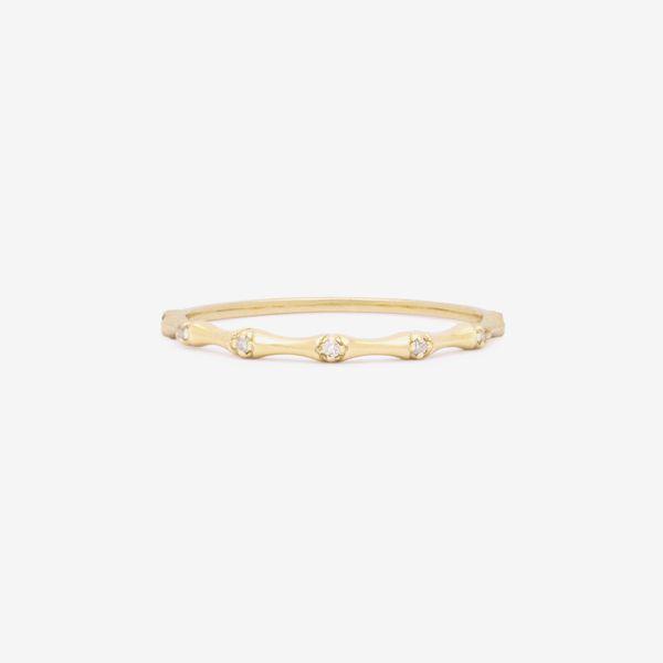 Stone & Strand Diamond Bamboo Ring