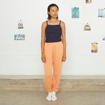 Entireworld Loop Back Sweatpants, Apricot Orange