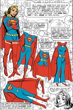 """8813e61e5011 In 1970, Supergirl's artists and editors were interested in giving her a  more modern and """"groovy"""" look. Design ideas from fans came pouring in, ..."""