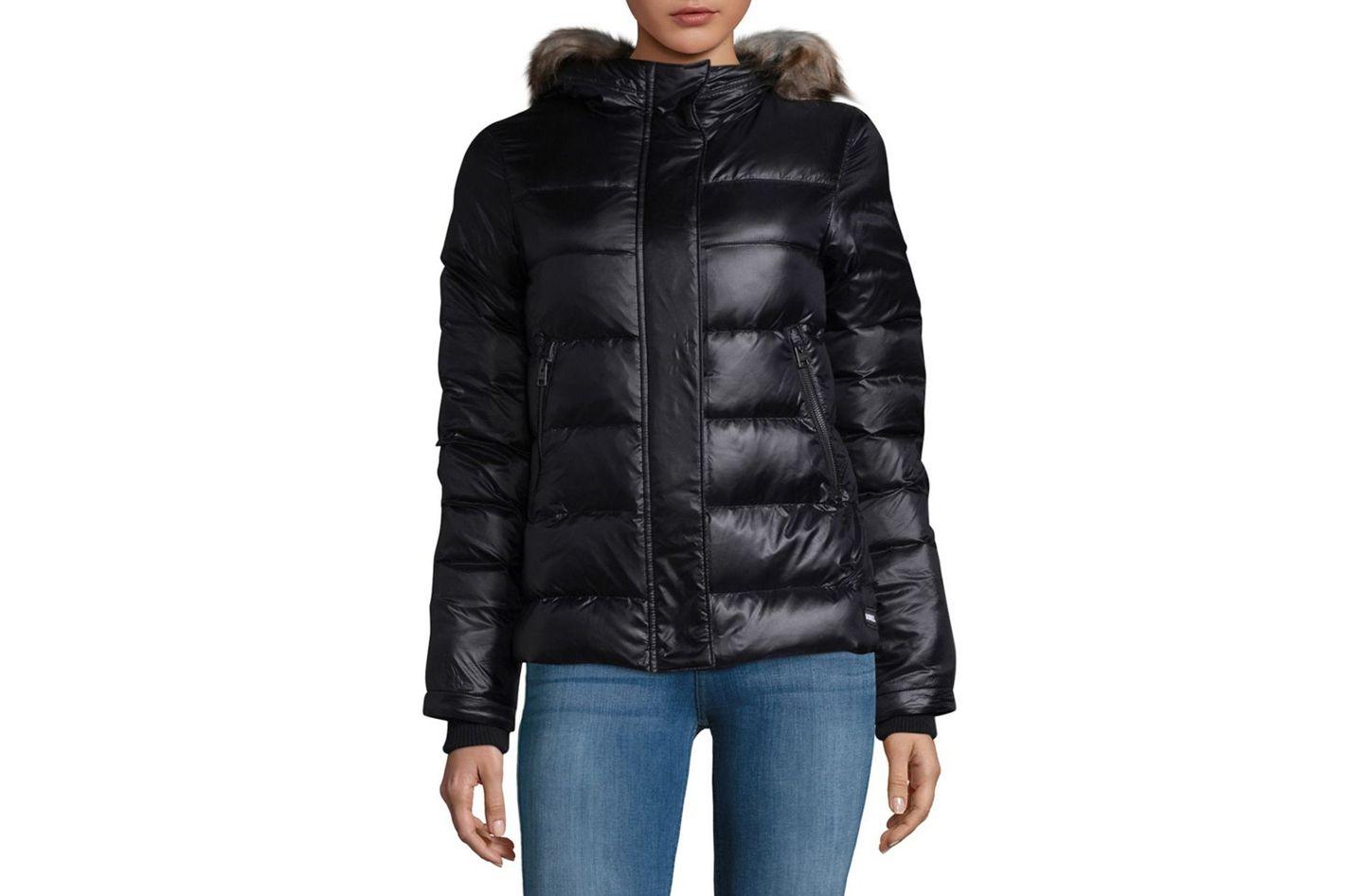 Sorel Faux Fur-Trimmed Down Puffer Jacket