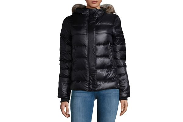 Sorel Faux Fur-Trimmed Down Puffer Jacket