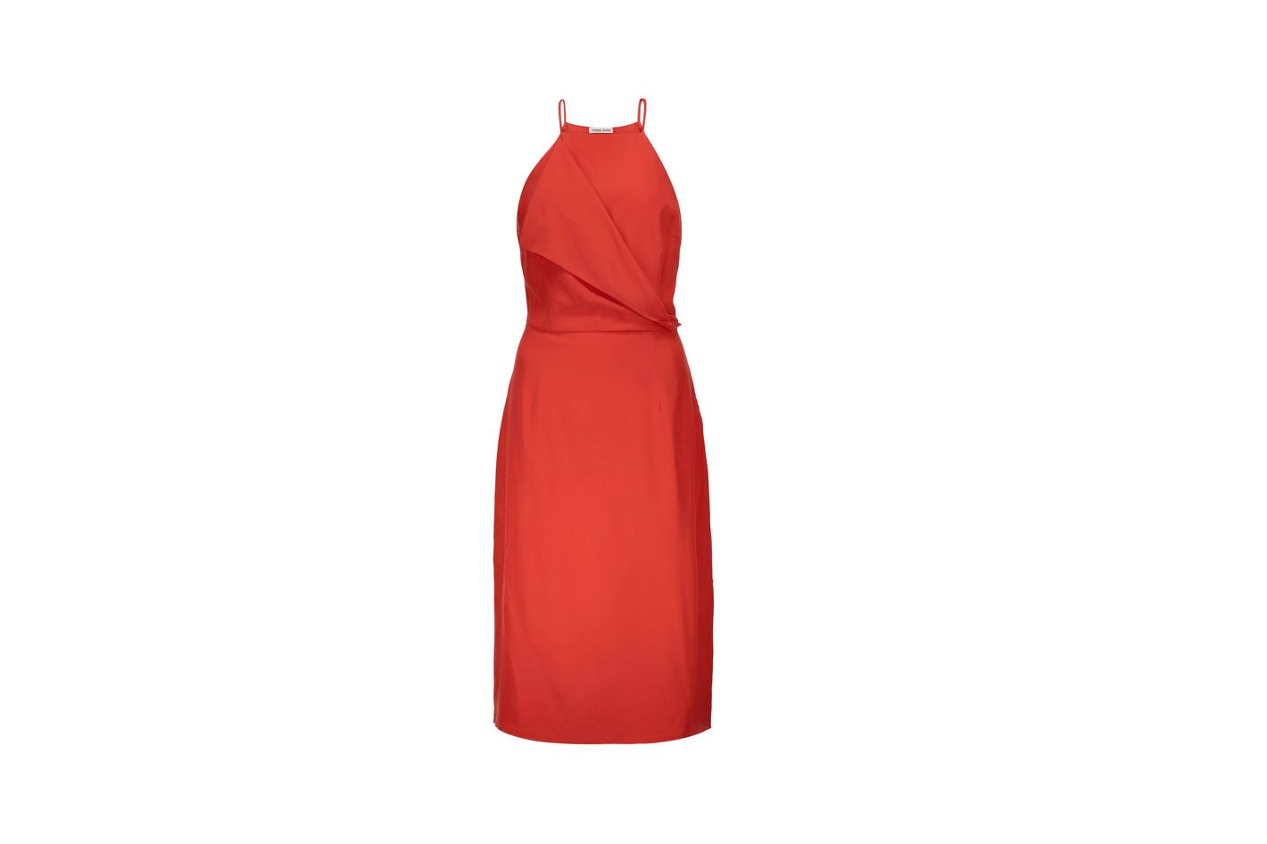 Tomas Maier draped wrap-effect silk crepe de chine dress