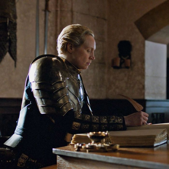 Brienne of Tarth, blogging through her feelings.