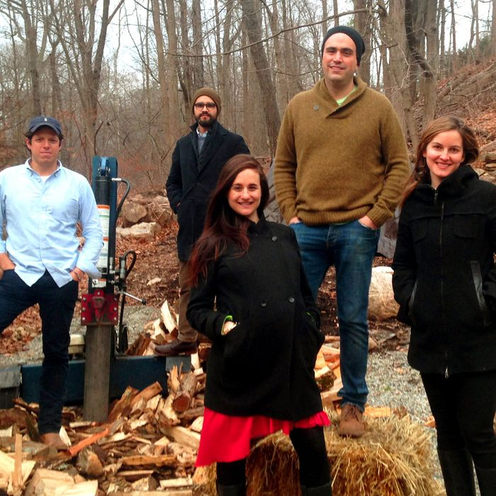 The team bringing wood back from Connecticut for the new grill.