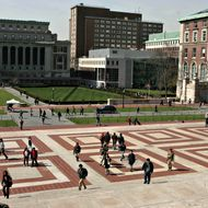 Columbia University in New York on Wednesday April 11, 2007.  John Kluge donated one the largest ever gufts to an American University totaling $400 milion. Photographer: Daniel Barry/Bloomberg News