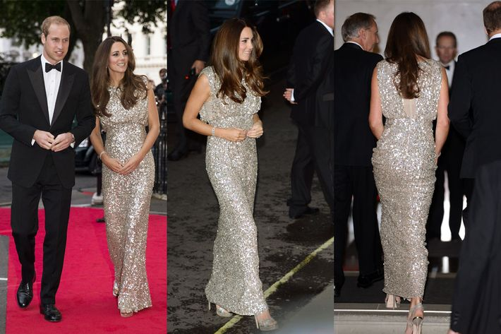 Kate Middleton in Jenny Packham.