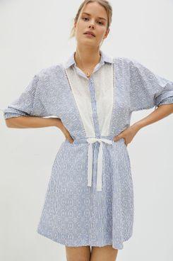Anthropologie Maeve Ashleigh Eyelet Mini Dress