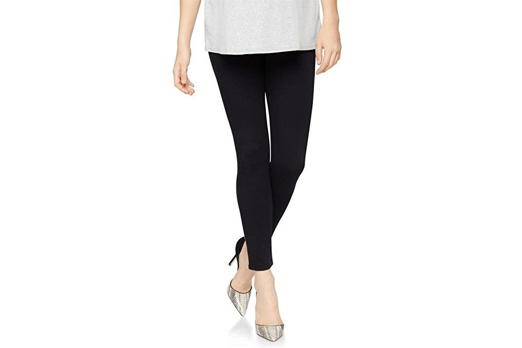 Brand New Stylish /& Elegant Grey Button Ankle Maternity Leggings