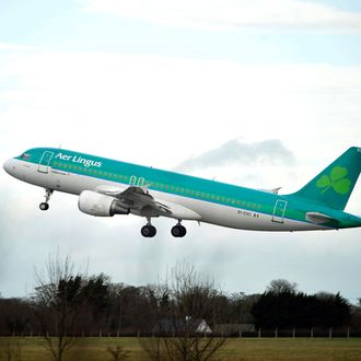 An Airbus A320 passenger aircraft, operated by Aer Lingus Group Plc, takes-off from Dublin Airport Wednesday, Feb. 18, 2015.