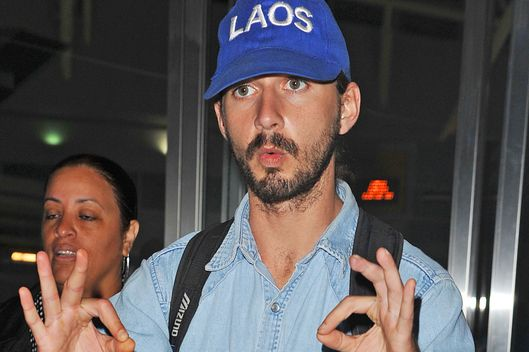 Shia LaBeouf arrives at the JFK International airport on August 01, 2012 in New York City.