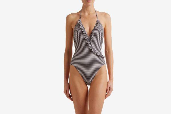 Solid & StripedThe Nadine Striped Swimsuit