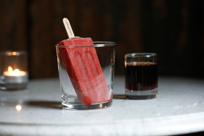 There will be whiskey pops made in collaboration with People's Pops.