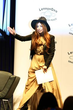 Lady Gaga and Yoko Ono are seen attending the LennonOno Grant For Peace event, Reykjavik.