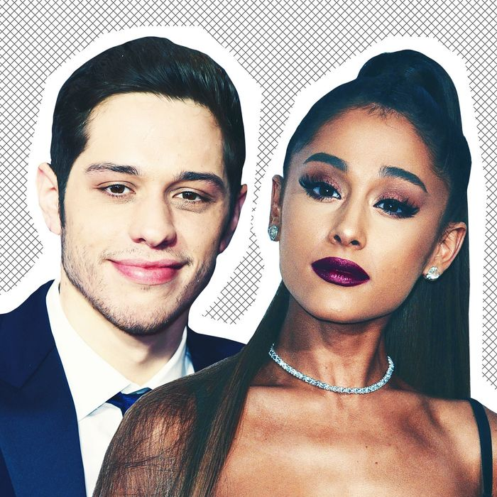 Pete Davidson and Ariana Grande.