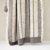 West Elm Tufted Lines Throw