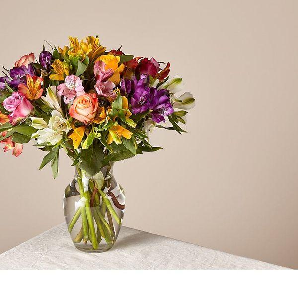 ProFlowers Smiles & Sunshine With Glass Ginger Vase