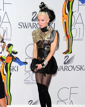 Daphne Guinness, in the flesh.