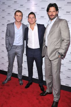 Channing Tatum and Joe Manganiello attend the IWC Flagship Boutique New York City Grand Opening