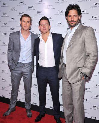Channing Tatum and Joe Manganiello attend the IWC Flagship Boutique New York City Grand Opening