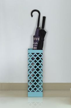 NEX Umbrella Stand with Tray and Hook, Blue