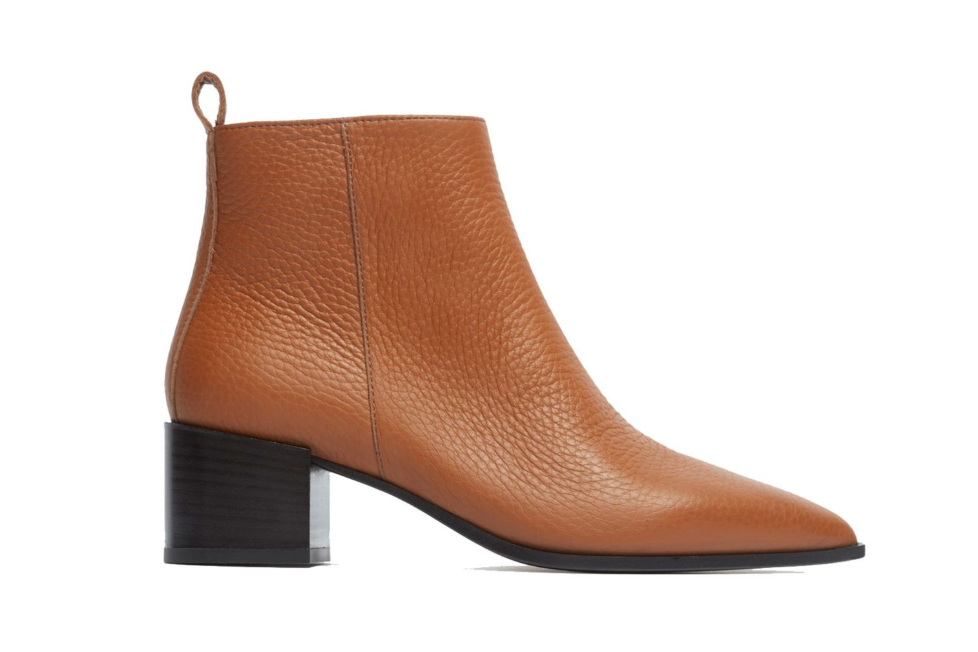 Everlane The Boss Boot in Cognac Pebbled