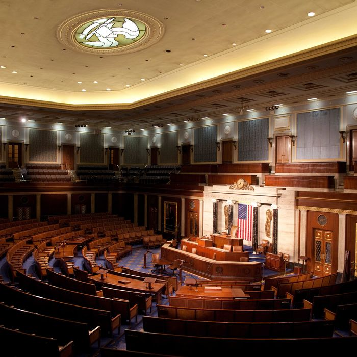 The empty House Chamber of the U.S. Capitol Building in Washington, D.C., is photographed on the morning of December, 8 2008. (Chuck Kennedy/MCT)
