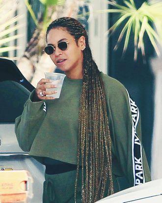 Beyoncé and her super-duper long braids.
