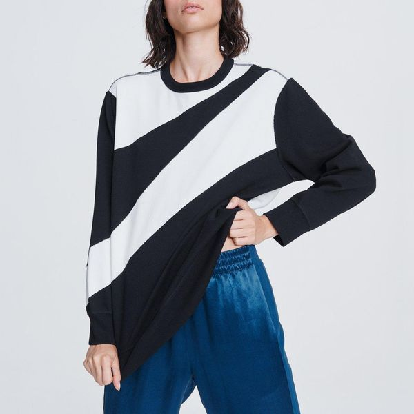 Abstract Zebra Pullover